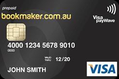 bookmaker visa card